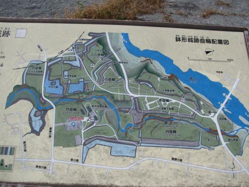鉢形城全体図
