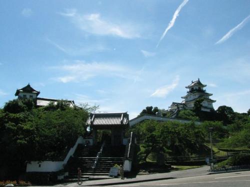 掛川城:天守閣と太鼓櫓所