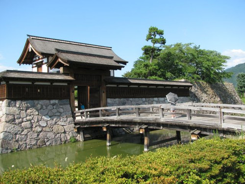松代城:太鼓門にかかる前橋