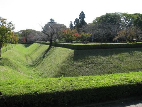 佐倉城の馬出し空濠